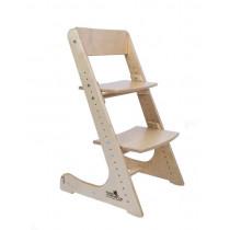 Детский растущий стул Конёк Горбунёк натуральный без покрытия