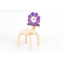 Детский стульчик Цветочек Анютины глазки