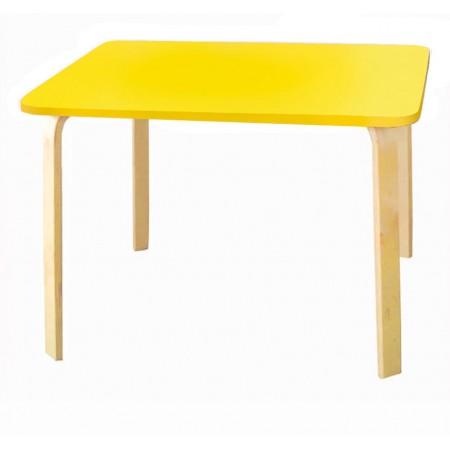 Детский столик Мордочки желтый