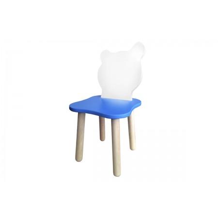 Детский стульчик Джери Бело-голубой