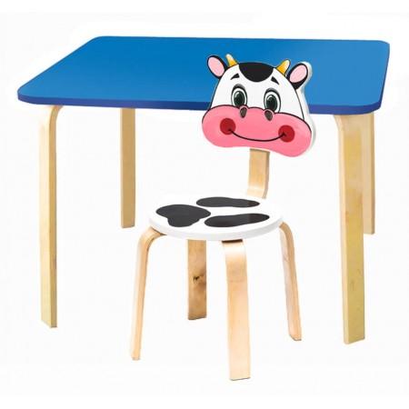 Комплект детской мебели Мордочки с голубым столиком