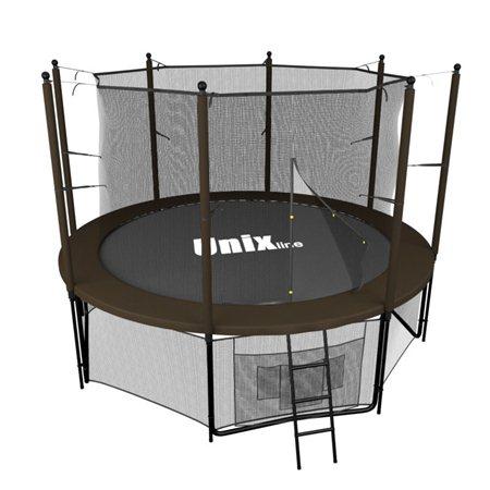Батут Unix line Black&brown inside (244 см/8 ft)