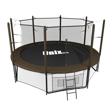 Батут Unix line Black&brown inside (366 см/12 ft)