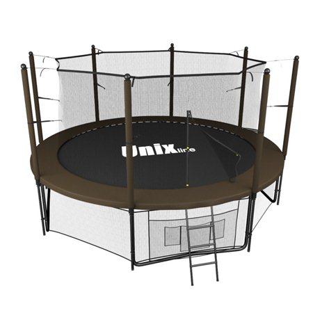 Батут Unix line Black&brown outside (305 см/10 ft)