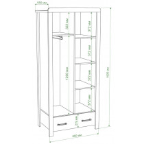 Шкаф двухтворчатый Ш2Д