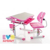 Детская парта с регулировкой высоты и стулом Mealux EVO-05 PINK