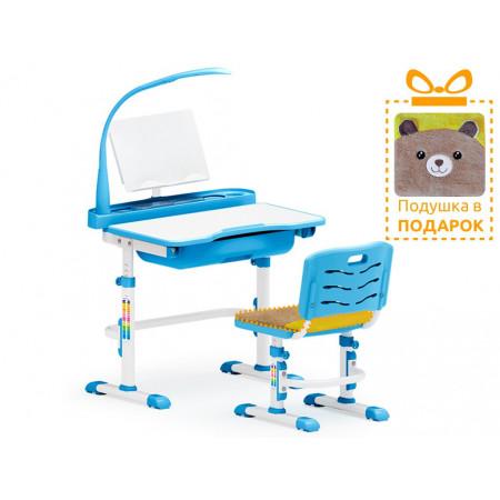 Комплект парта и стульчик Mealux EVO-17 BLUE (с лампой)