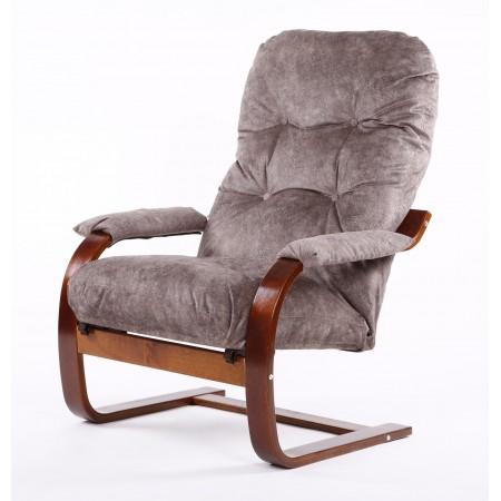 Кресло Онега-2 вишня/велюр капучино