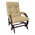 Кресло-глайдер Модель 68 шпон Орех/экокожа Madryt 912