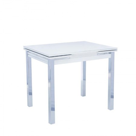 Стол раздвижной Leset Париж 1Р серый, металл хром