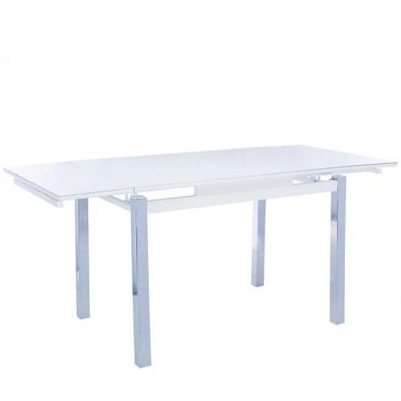 Стол раздвижной Leset Париж 2Р серый, металл хром