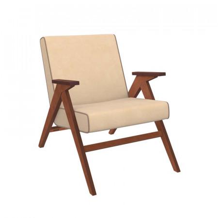 Кресло для отдыха Вест орех, велюр Verona Vanila, кант Verona Brown