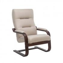 Кресло для отдыха Leset Оскар Орех текстура, ткань Мальмо 05