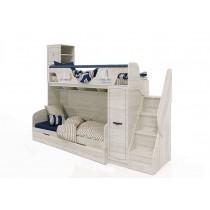 Кровать-чердак Регата-4 с лестницей и кроватью Регата-7