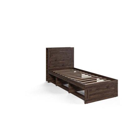 Кровать Шервуд односпальная КШт-04К Дуб Тёмный