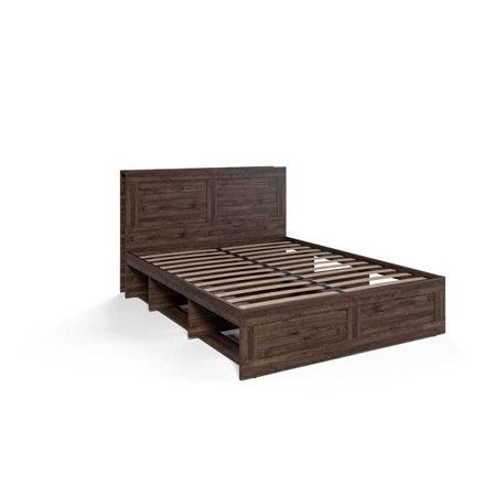 Кровать Шервуд-3 двухспальная КШт-03К Дуб Тёмный