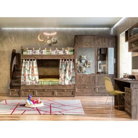 Набор 1 детской мебели Шервуд дуб тёмный