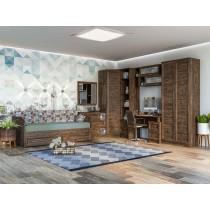 Комплект 3 детской мебели СКАНД Шервуд дуб тёмный