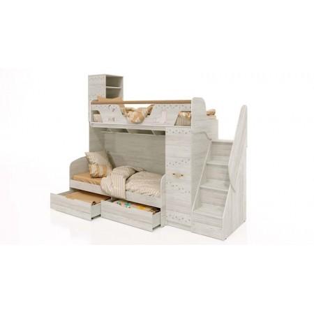 Кровать Марвин 4 с лестницей + Кровать Марвин 7
