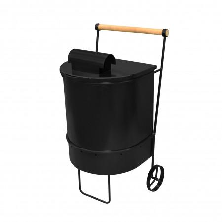 Контейнер для сжигания мусора с трубой большой