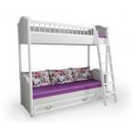 Кровать двухъярусная Классика с лесенкой