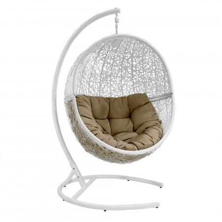 Кресло подвесное Lunar белый