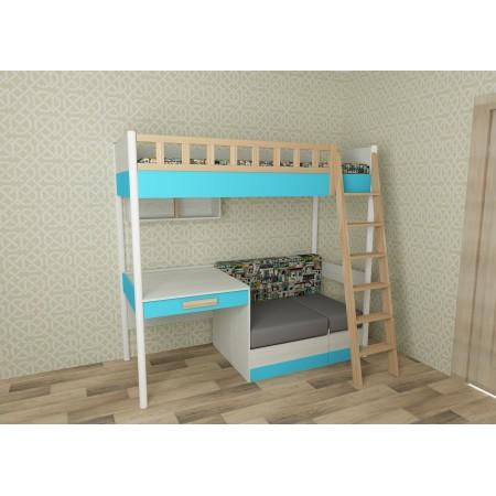 Кровать универсальная с лесенкой Феникс