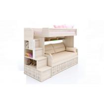 Двухъярусная кровать Кембридж-3 с ящиком+Кембридж-1