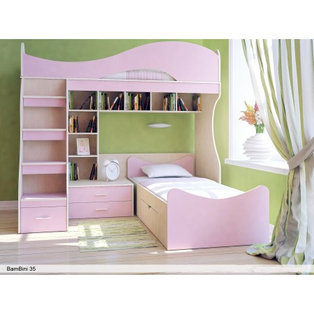 Двухъярусная кровать Бамбини 35