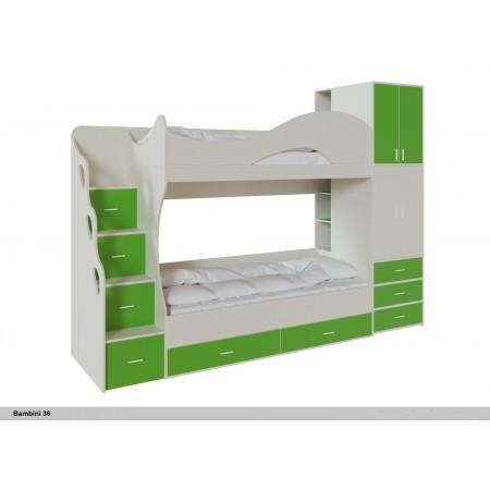 Двухъярусная кровать Бамбини 36
