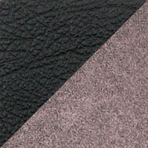 Комбинированный экокожа микрофибра (PU черный MF бежевый)