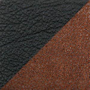 Комбинированный экокожа микрофибра (PU черный MF коричневый)