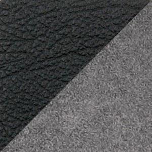 Комбинированный экокожа микрофибра (PU черный MF серый)