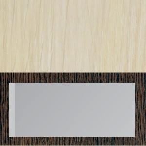 Корпус дуб молочный+фасад венге/стекло