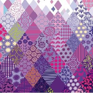Пэчворк фиолетовый