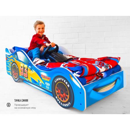 Кровать-машина «Тачка синяя»