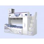 Двухъярусная кровать Леди-4 + Леди-3