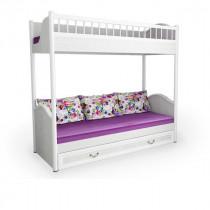 Кровать двухъярусная Классика со сплошным ограждением