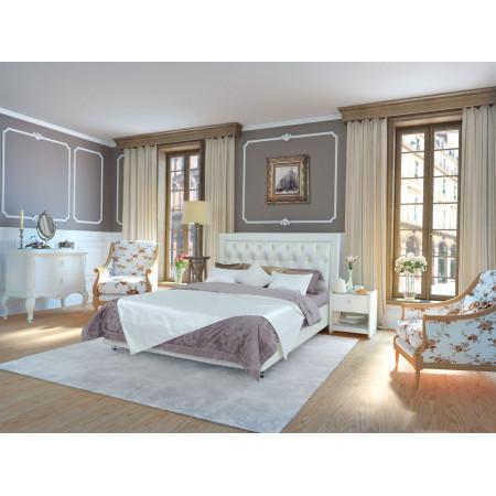 Мягкая интерьерная кровать Simona